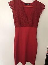 Jane Norman Red Lace Bandage Dress (size S)