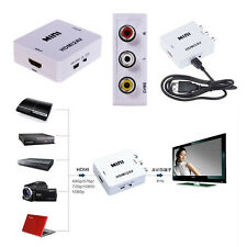 Composite Adapter Wandler Video Konverter HDMI RCA Audio AV VCR PC PS3 NTSC