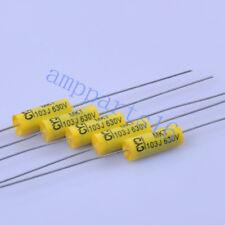 Película De Poliéster Poly Tubular axial 5pc 0.0082uf 822 630V Condensador Para Guitarra Amplificador