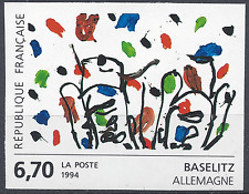 TABLEAU GEORG BASELITZ N°2914 TIMBRE NON DENTELÉ IMPERF 1994 NEUF ** MNH