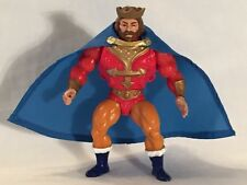"Vintage He-Man MOTU ""King Randor CUSTOM Blue Cape w/ Gold Collar"" 1981, Mattel"