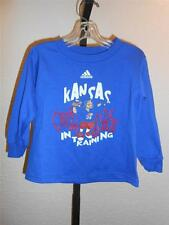 "New KANSAS KU JAYHAWKS TODDLERS 3T Adidas ""Quaterback in Training"" Shirt"