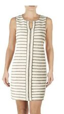Max Studio Weekend Small Ivory Striped Knit Shift Dress NWT $98