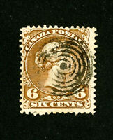 Canada Stamps # 27 VF Used Striking Circular Cancel Scott Value $140.00