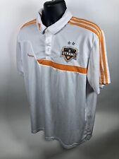 Adidas Houston Dynamo White Soccer Jersey / Polo Shirt Men/Adult L [E1]