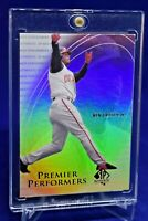 KEN GRIFFEY JR. SP AUTHENTIC PREMIER PERFORMERS REFRACTOR REDS LEGEND HOF SP