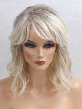 Fashion Messy Carefree Layered Medium Light Blonde Wavy Bob Wig