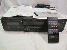 Pioneer CT-1380WR Stereo Dual Cassette Tape Deck w/ Remote & Instruction Manual