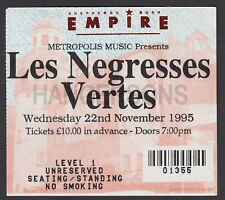 Original LES NEGRESSES VERTES Empire Shepherds Bush ticket 1995