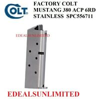 FACTORY COLT MUSTANG 380 ACP 6RD STAINLESS STEEL MAGAZINE SPC556711
