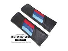 """2 X Almohadillas cubiertas de cinturón de seguridad de cuero negro """"M3 // diseño estilo"""""""