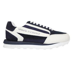 Armani Exchange AX Men's shoes sneakers XUX101 XV294 k568 blue white