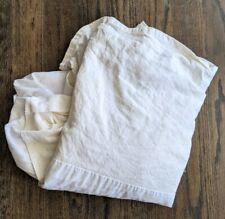 Restoration Hardware Linen Full Bed Skirt 100% Linen neutral beige