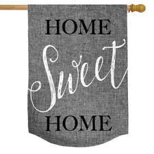 "Home Sweet Home Burlap House Flag Everyday 28"" x 40"" Briarwood Lane"