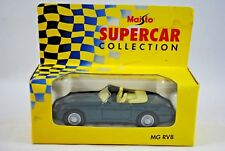 MAISTO 1:37 MG RV8 Cabriolet Supercar with Opening Doors & Pull Back & Go Action