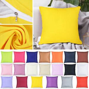 "Plain Dyed Cushion Cover Home Office Car Sofa Throw Pillowcase Decors 16"" / 40cm"