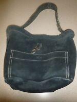 Tylie Malibu Black Studded Suede Leather Bag Handbag Purse Hobo Satchel