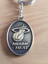 MIAMI HEAT Iconic Basketball NBA  Superb Quality Two Sided Metal Key Ring