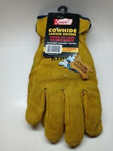Kinco 51PL-XL Lined Split Cowhide Leather Driver Gloves, X-Large