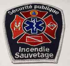 Public Security Matane FD Quebec Fire Patch Actual Silver