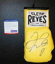 FLOYD MAYWEATHER SIGNED Yellow Cleto Reyes BOXING GLOVE WITNESSED PSA JSA Auto