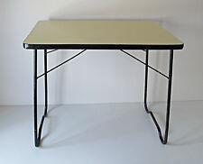 TABLE PLIANTE METAL FORMICA DESIGN ANNÉES 50 VINTAGE LOFT 1950