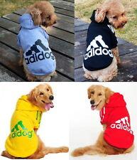 Small Large Pet Dog Adidog Clothes Shirt Coat Jacket Hoodie Warm Sweater Apparel