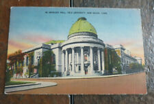 1941 postcard, Woolsey Hall, Yale University, New Haven, CT