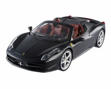 1:18 Hot Wheels ELITE Ferrari 458 Spider Matt Black Diecast