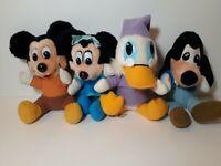 Vintage 1980's Mickey's Christmas Carol Plush Lot. Mickey,Minnie,McScrooge,Pluto