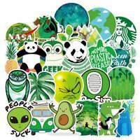 70Pcs Green Theme Panda Decorative Car Stickers Laptop Bike Decals~ bara