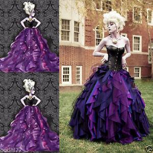 The Little Mermaid Dress Sea Witch Ursula Princess Formal Dress Cosplay Costume