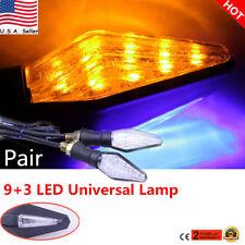US 2x UNIVERSAL WATERPROOF MOTOR BIKE LED TURN SIGNAL INDICATOR LIGHT LAMP AMBER