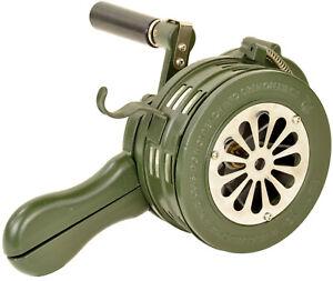 Handsirene Sirene Feuerwehr Aluminiumgehäuse 110dB 550Hz Natogrün , 01130
