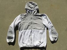 Womens The NORTH FACE White Hooded Polartec Fleece Jacket Sweater Medium