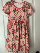 MATILDA JANE DRESS & bow, rose, size 10