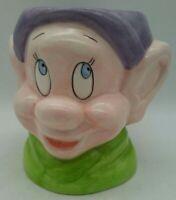 Disney Dopey Cup Snow White & Seven Dwarves Vintage Mug DETAILED 3D Ceramic RARE