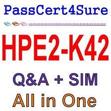 Designing HPE Nimble Solutions HPE2-K42 Exam Q&A PDF+SIM