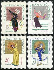 Viet Nam 195-198,MI 201-204,MNH. Folk Dances:Rong Chieng,Bamboo,Hat,Parasol,1962