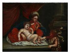 Madonna mit Jesus und Johannes der Täufer / Öl / LW, 18. Jahrhundert (# 14279)