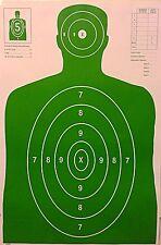 Shooting Targets Green Silhouette Gun Pistol Rifle Range B-27 Qty:50 23x35