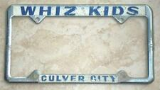 Whiz Kids Culver City, CA License Plate Frame 1956 - Current