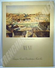 SUPERBE MENU DE GALA PAQUEBOT ILE DE FRANCE 1937 Cie Gle TRANSATLANTIQUE Céria