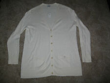 Old Navy women's XL cardigan ivory long-sleeve V neck button down