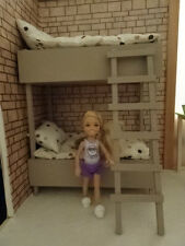 Barbie doll furniture handmade bunk bed for Chelsea,Kelly..etc up to 18 cm..