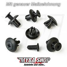 15x Verkleidung Befestigungs Clips in Schwarz für Toyota Mitsubishi | MB-253964