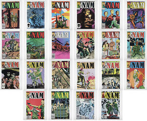 THE 'NAM #5-18, 20-27 Lot of 22 Issues 1986 War VF/NM Marvel Comics