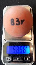 Minigolfball MG B3 Rohling markiert bespielt Balldaten im Text