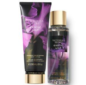 Victoria's Secret Exotic Lily Fragrance Lotion + Fragrance Mist Duo Set