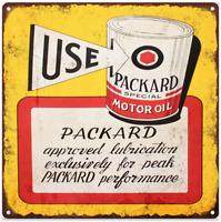 "Packard Motor Oil Metal Sign Ad Repro Mancave Garage Shop 12x12"" 60247"